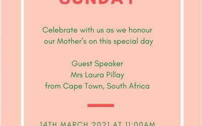 Mothering Sunday Service